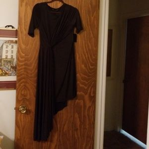 Boston proper little black draped dress